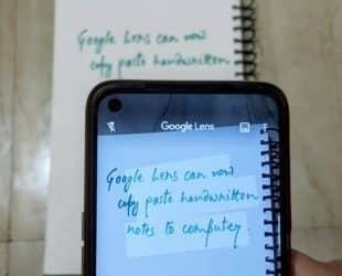 اضافه شدن اسکن دست نوشته و انتقال به رایانه در گوگل لنز