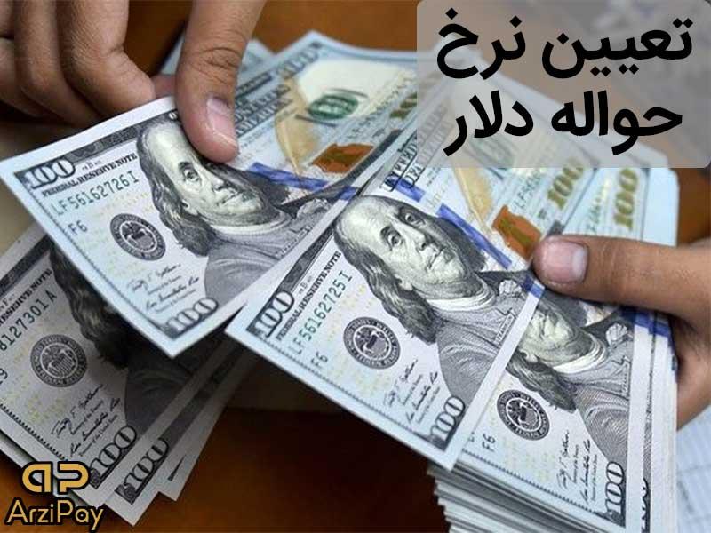 تعیین نرخ حواله دلار